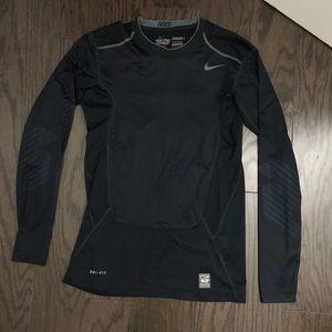 Nike Pro Combat Dri-Fit navy blue long sleeve
